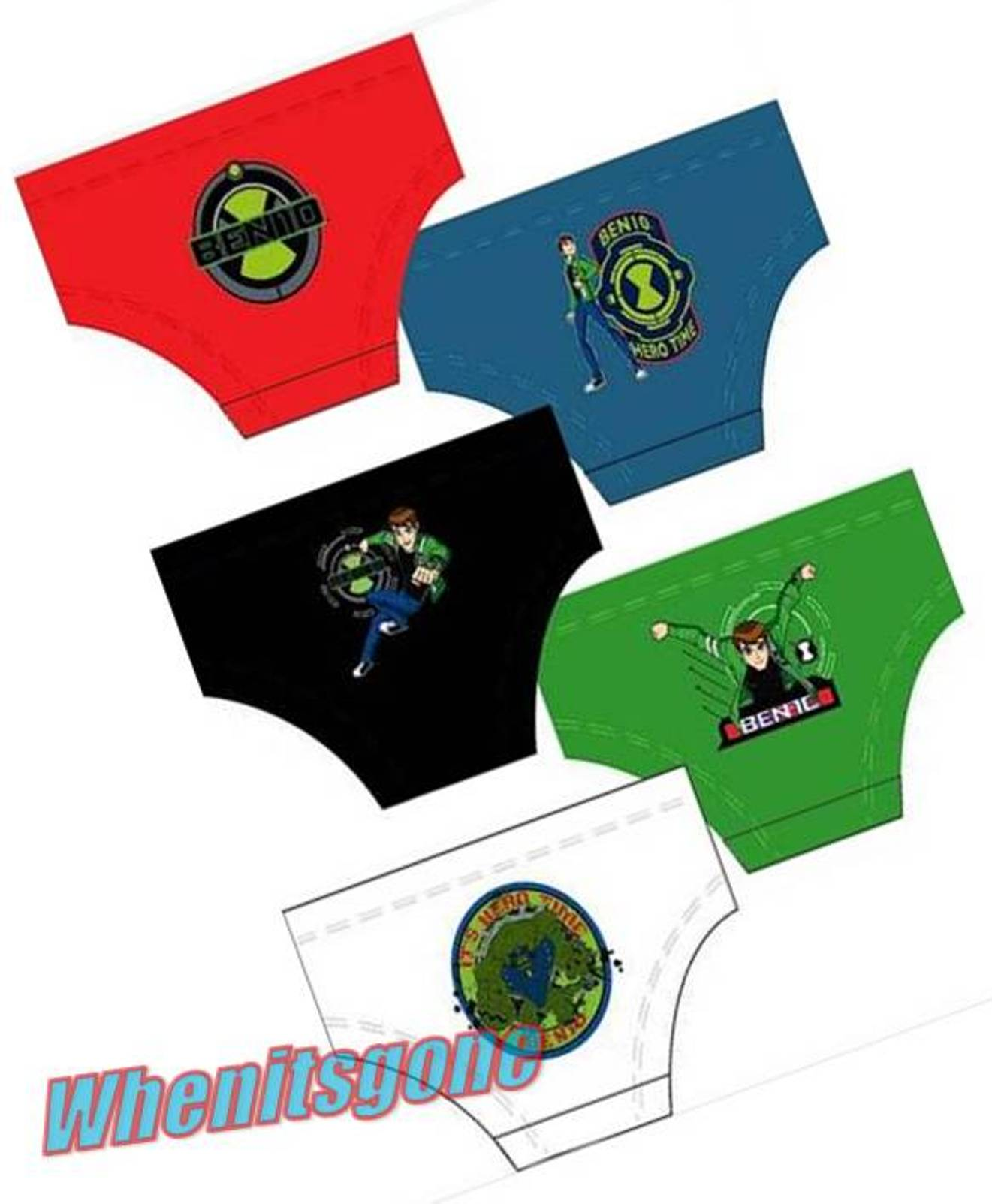 NEW-BOYS-1x5-BEN-10-BRIEFS-PANTS-age-3-4-5-6-7-8-9-10