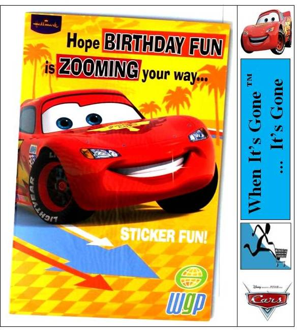 Disney Cartoon Character CARDSWRAPPING PAPERSTATIONERYBIRTHDAY – Disney Cars Birthday Cards