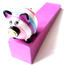 New cute retro funky pig door stops wedges door stopper ebay - Cute door stoppers ...