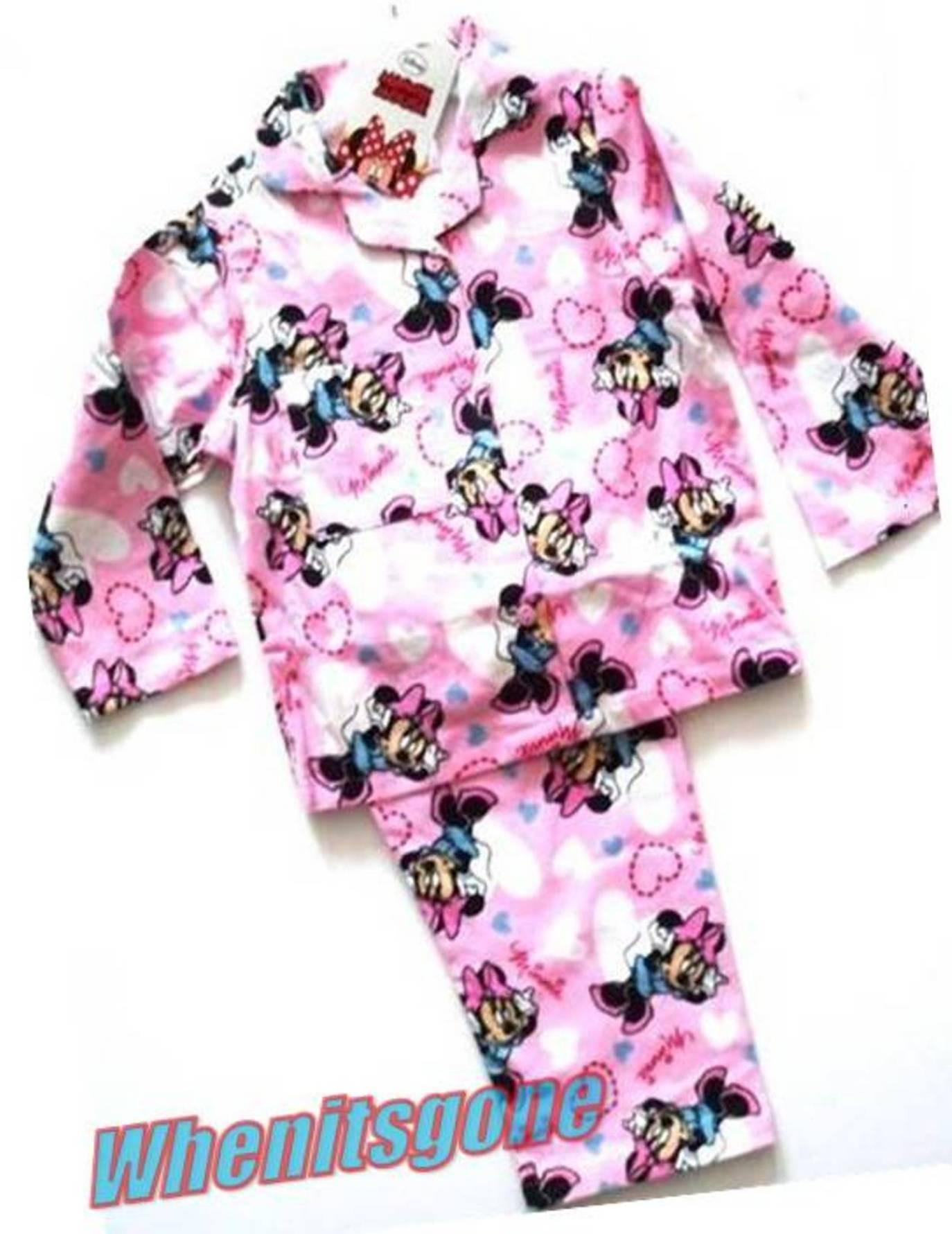 Girls Disney Minnie Mouse Pyjamas PJs Knickers Briefs Sleepsuit Top ...